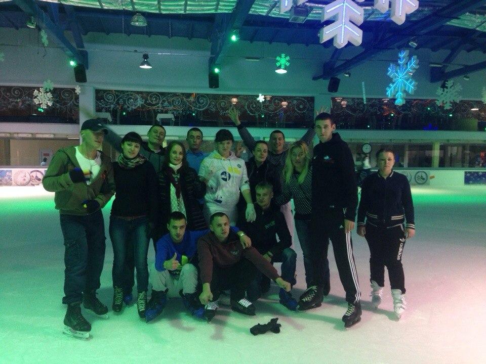 Коллективное катание на коньках